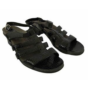 SAS Tripad Comfort Allegro Black Leather Sandal
